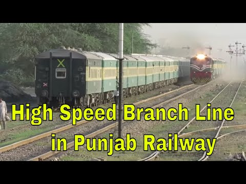 Pakistan Railways | 43up Night Coach cross 42dn Karakoram Express | Faisalabad Dry Port station