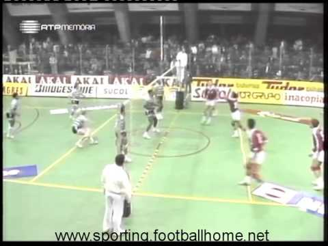 Voleibol :: Sporting - 3 x Benfica - 1 de 1989/1990 - 2Fase