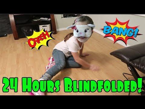 24 Hours Blindfolded! Opening LOL Dolls, Fortnite Dances, Rollerskating!
