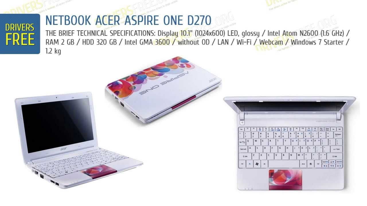 driver video acer aspire one d270 windows 7