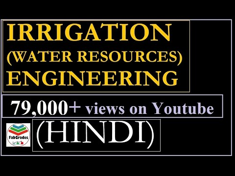 Lec-1 Irrigation Engineering in HINDI / Water Resource Engineering : Introduction GATE ESE PSUs