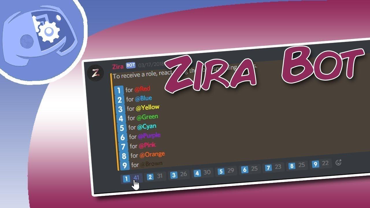 Discord   Ajouter des rôles avec des réactions (Zira)