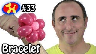 Two Balloon Flower Bracelet - Balloon Animal Lessons #33 ( globoflexia )