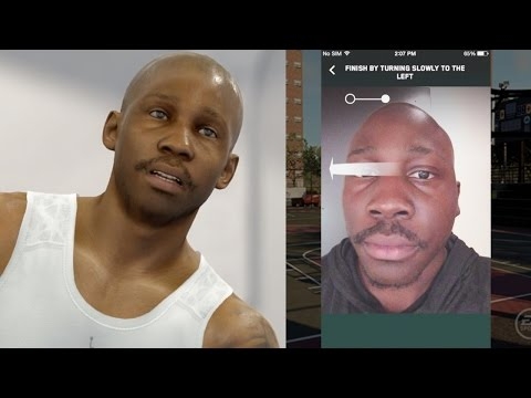 NBA Live 16 Face Scan Tutorial - QJB SCANS FACE! Player Customization Clothes, Shoes, Tattoos