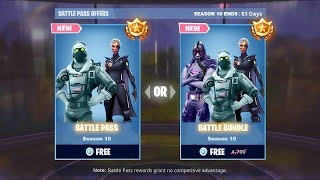 the New FREE SEASON 10 BATTLE PASS in Fortnite (Season 10 Battle Pass FREE)