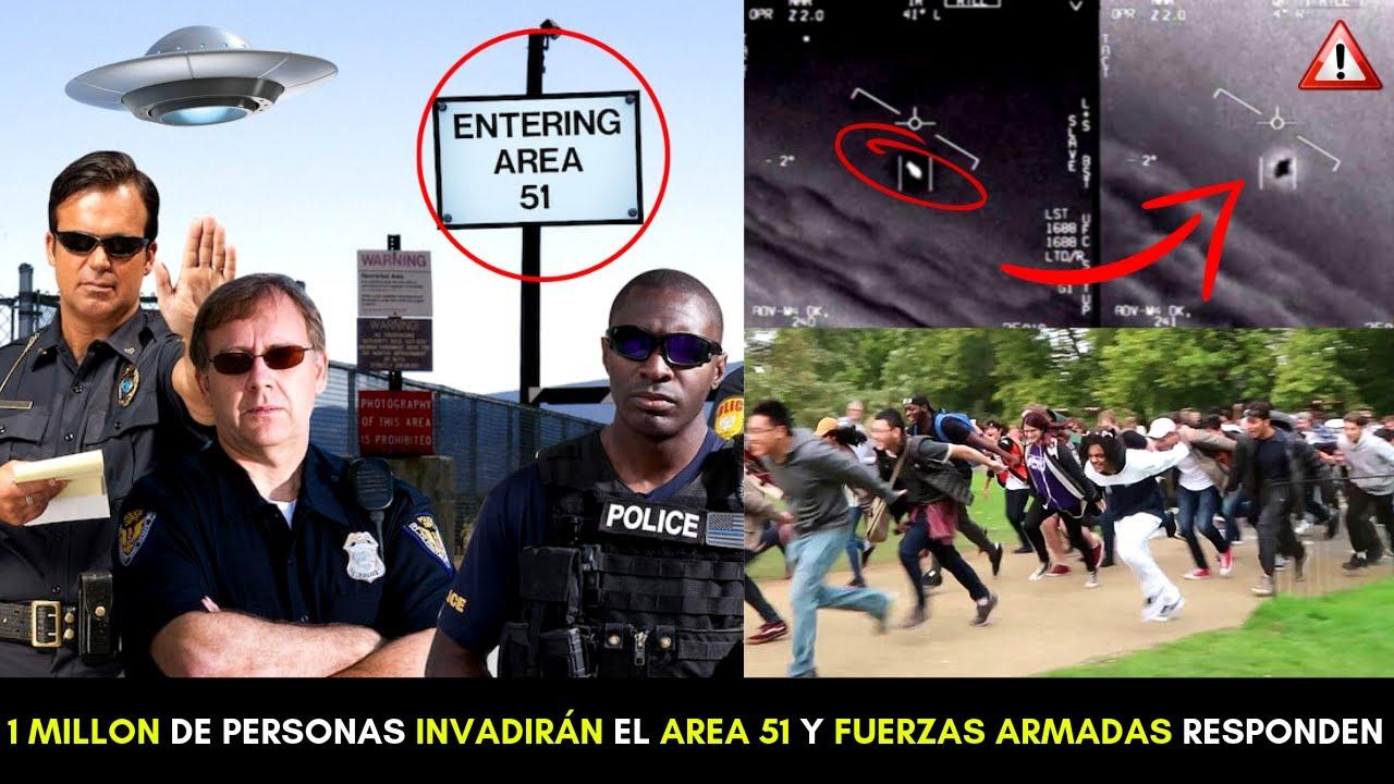 AREA 51 INVADIDA!? EL EJÉRCITO ADVIERTE A LAS 1 MILLON DE PERSONAS QUE SE PREPARAN PARA ASALTAR