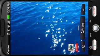 Floating Blue Sea Reflection
