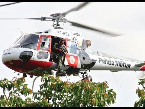 EP12Grupamento Aéreo da Polícia Militar (PMESP) Aguias da cidade EP12 (HD)