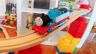 Thomas the Tank Engine train - on IKEA lillabo toy train set