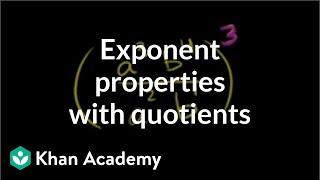 Exponent Properties Involving Quotients