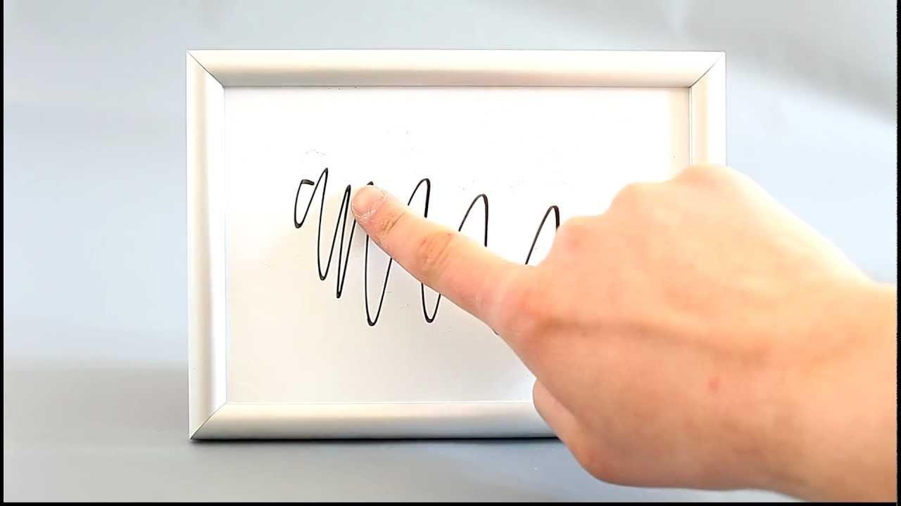 Whiteboard Beschreibbar und trocken abwischbar - YouTube