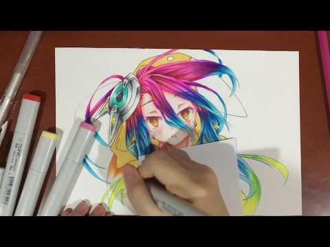 Drawing Shuvi Dola (シュヴィ・ドーラ) from No Game No Life : Zero Movie (ノーゲーム・ノーライフ ゼロ)