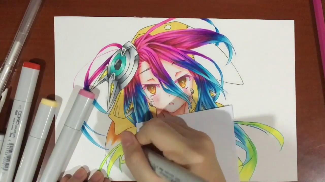 Drawing Shuvi Dola (シュヴィ・ドーラ) from No Game No Life  Zero Movie (ノーゲーム・ノーライフ  ゼロ)