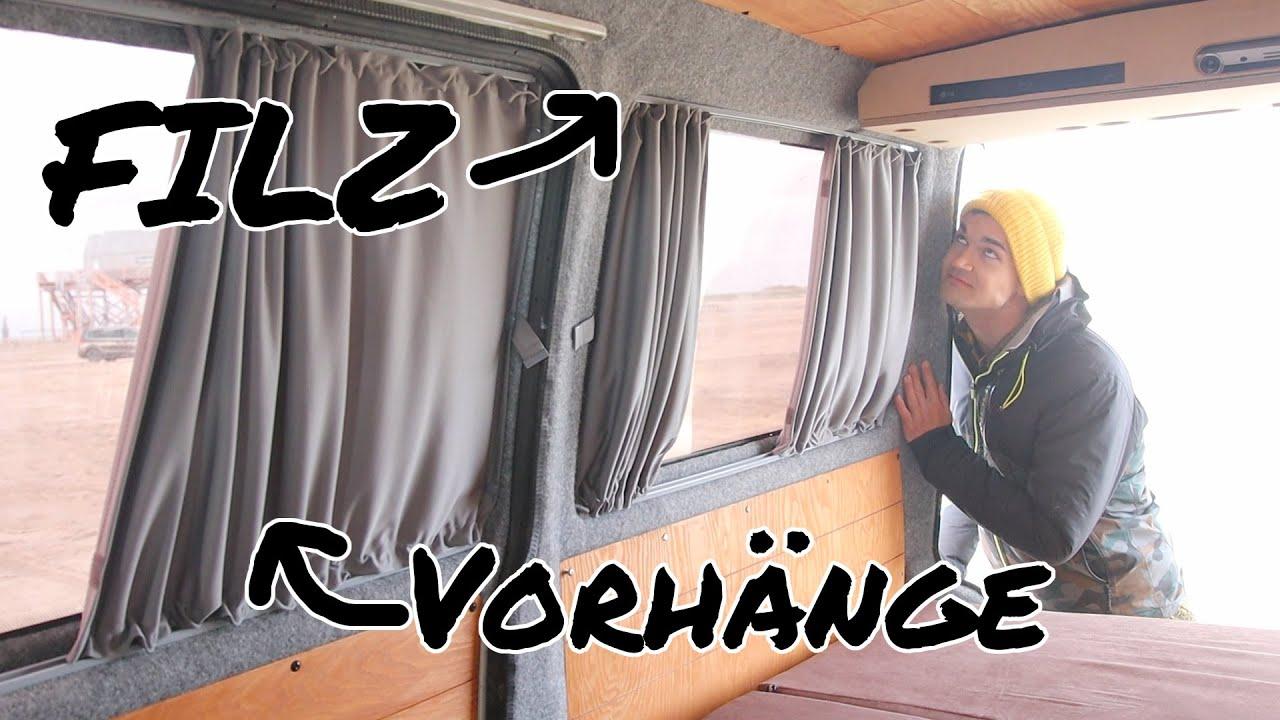 Filz Und Neue Baimex Vorhange Im Vw Bus Camper Ausbau Mathisox