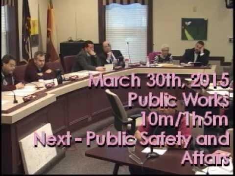 March 31st, 2015 Public Works and Code Enforcement