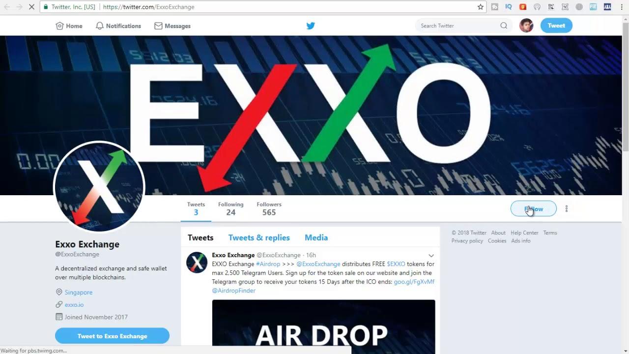 Free 150 EXXO Exchanger Token Free Airdrop Token Best Airdrop