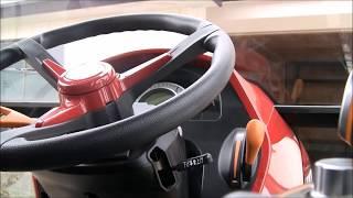 このトラクターの操作、幾分慣れてきました。動画ではエンジン音が大き...