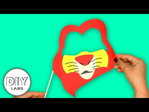 MUFASA MASK Paper Craft   Lion King Party   Fast-n-Easy   DIY Arts & Crafts for Kids