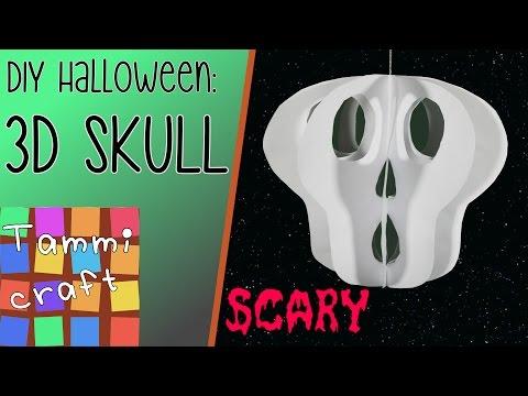 Halloween 3D Paper Skull - Great for Kids to Make