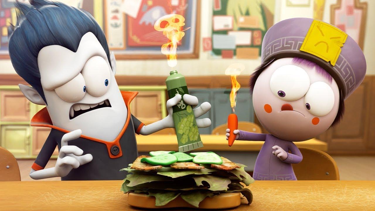 Download Funny Animated Cartoon   Spookiz World Record Hottest Sandwich Ever 스푸키즈   Cartoon for Children
