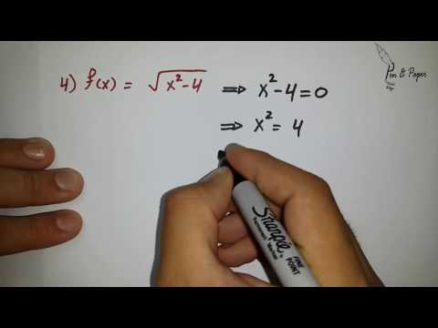 Domain of a Function مجال الاقترانات | Part 2: Examples