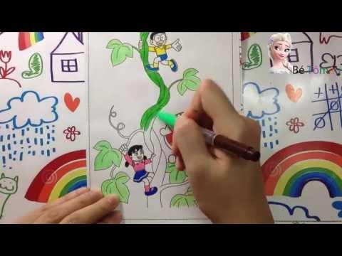 Tô màu Doremon   Nobita   Shizuka   Xuka   dạy bé học tô màu   Doremon Coloring