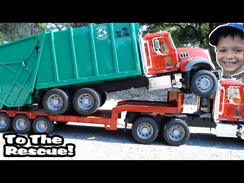 Thumbnail: GARBAGE TRUCK Videos For Children l Kids Bruder Garbage Truck To The Rescue! l TOY TRUCK Videos Kids