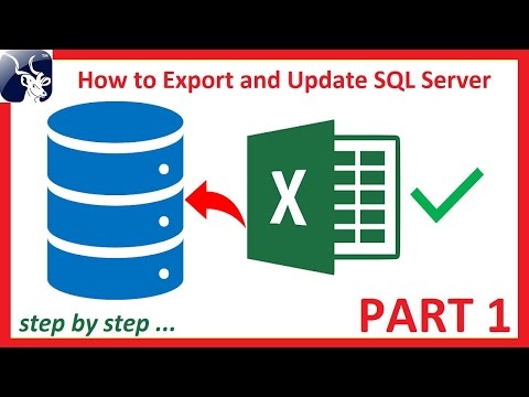 How To Export And Update SQL Server Table Data Using Excel Step By Step PART 1