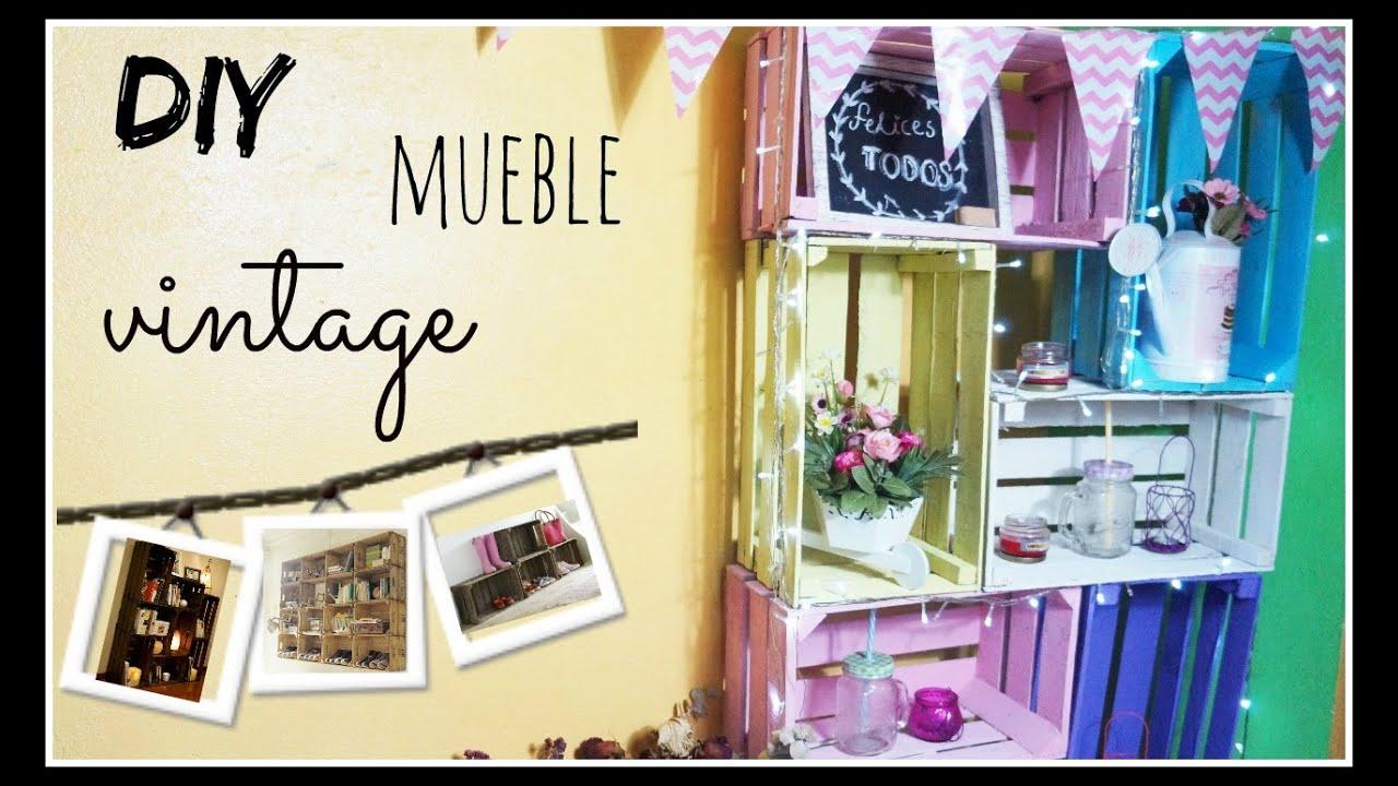 Mueble vintage con huacales hazlo tu mismo f cil gema - Como hacer un mueble de cocina ...
