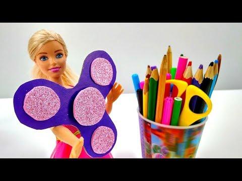 Как сделать #СПИННЕР ? Видео #МастерКласс с #КуклаБарби 🙌 Мастерская #Барби Игры для детей