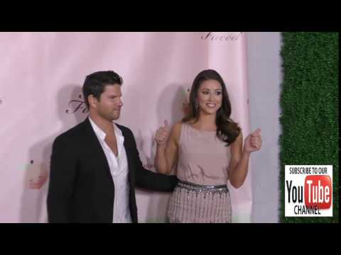 Daniel Booko and Nia Sanchez at the Too Faced's Sweet Peach Launch Party at The Lot in Hollywood