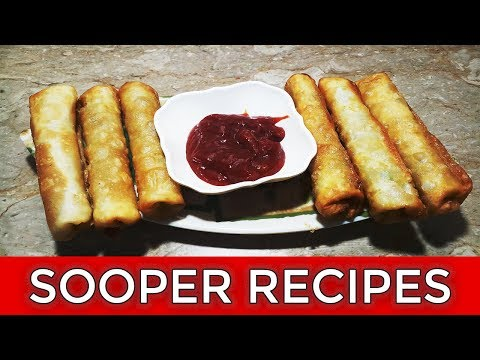 Chicken Vegetable Roll Recipe | How To Make Chicken Vegetable Rolls In Urdu | Sooper Recipes