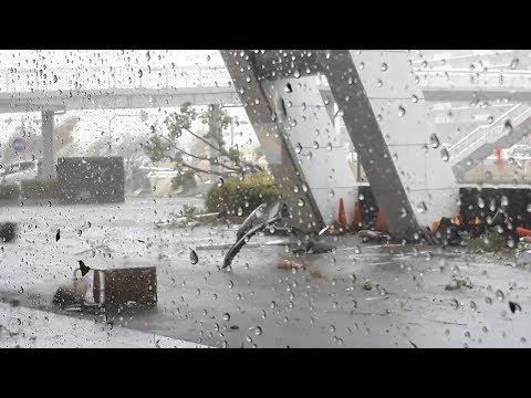 台風21号 大阪など各地で猛威