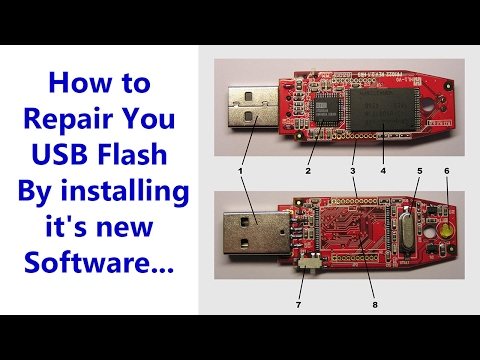 How To Repair You USB Flash By Installing It's New Software