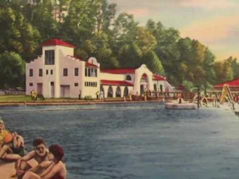 Fountain Lake Arbordale Hot Springs Arkansas Then and Now.