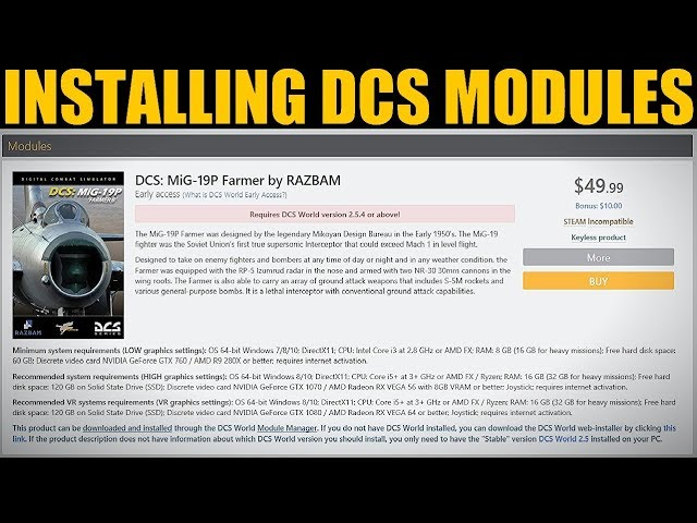 Explained: How To Buy/Install DCS WORLD Modules (Non-Steam)