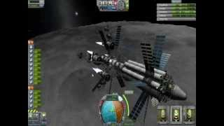 KSP- Akringthaad Tower Lander shakedown run- Landing on the Mun.
