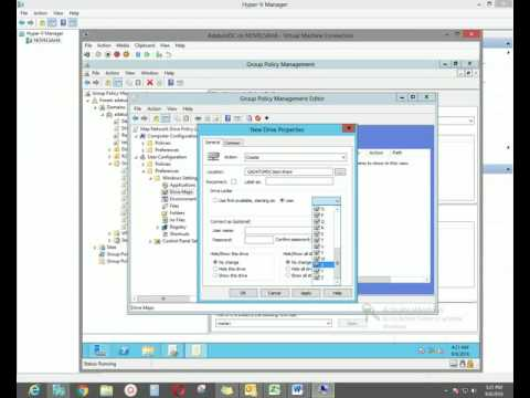 Map Network Drive and Shortcut Group Policy
