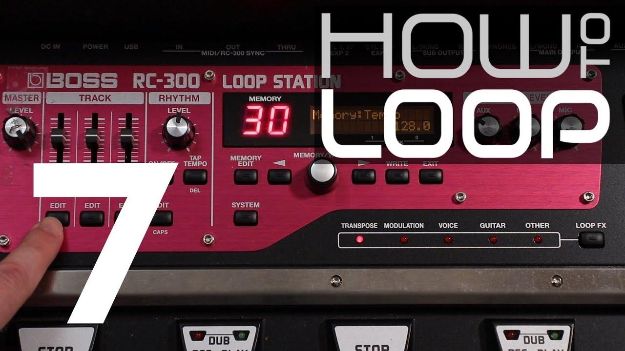 Boss - RC 300 - Seamless looping 101 - YouTube