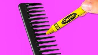 40 CRAYON IDEAS  5-Minute Decor DIYs With Crayons!