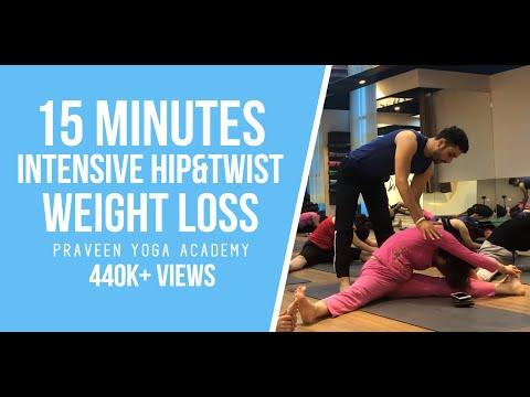 15 Minutes Intensive Hip&Twist Weight Loss Praveen Yoga