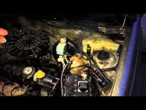 Opel Kadett выхлопная в расширительном бачке