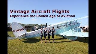 Vintage Aircraft Flights, Tiger Moth, Boeing Stearman, Dragon Rapide