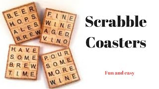 Making a Scrabble Coaster