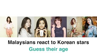 malaysians react to korean stars guess their age