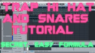STUDIO ONE | TRAP HI HATS & SNARE TUTORIAL | SECRET EASY FORMULA |