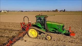 John Deere 8420T / Sleepslangen / Slurry Injection / GÚlle Injektion / Drone Landbouw / Agriculture