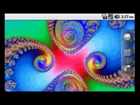 Fractal Live Wallpaper 8 On Android Youtube