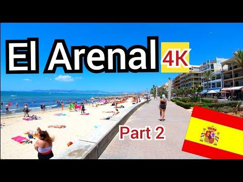 ⁴ᴷ EL ARENAL Walking Along The Beach Promenade, Mallorca 🇪🇸 Spain (Majorca) 4K