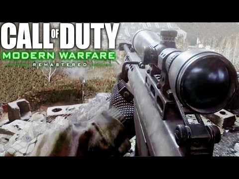 Call of Duty 4 Modern Warfare Remastered Sniper One Shot One Kill Mission Gameplay Veteran